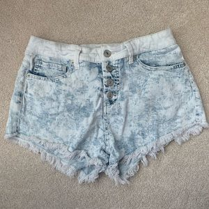 Mossimo High Waisted White Washed Jean Shorts